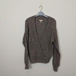Silence + Noise UO Surplice Faux Wrap Sweater